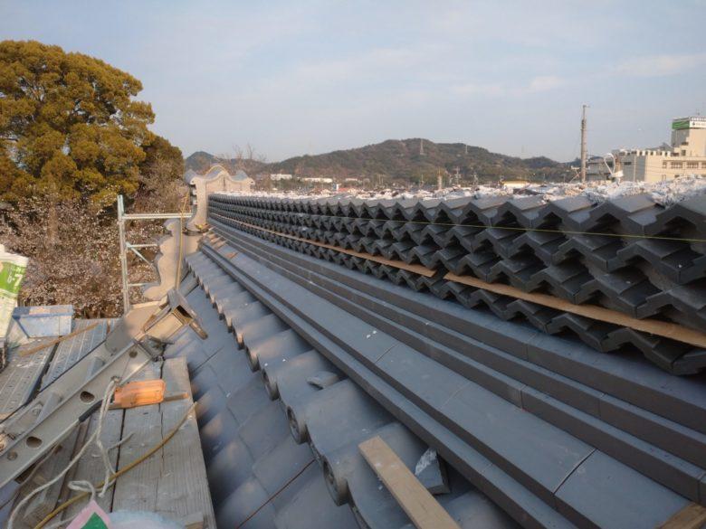 犬山のお寺で、お堂の改修工事をしています。