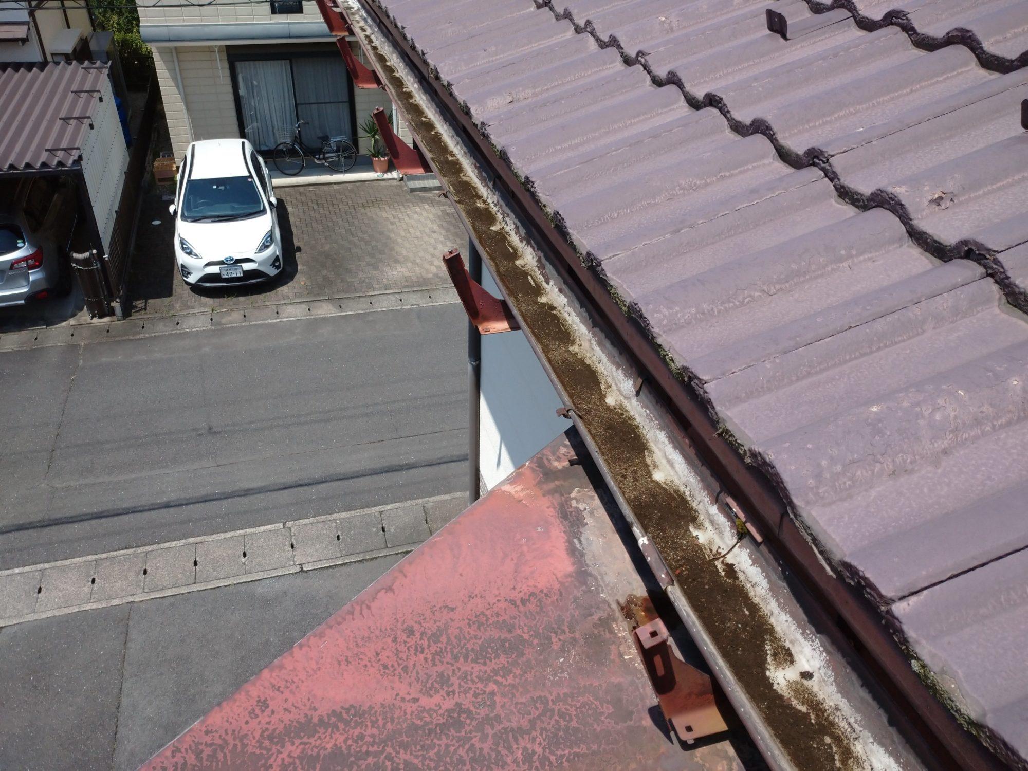 岐阜市で 樋の工事をしています。