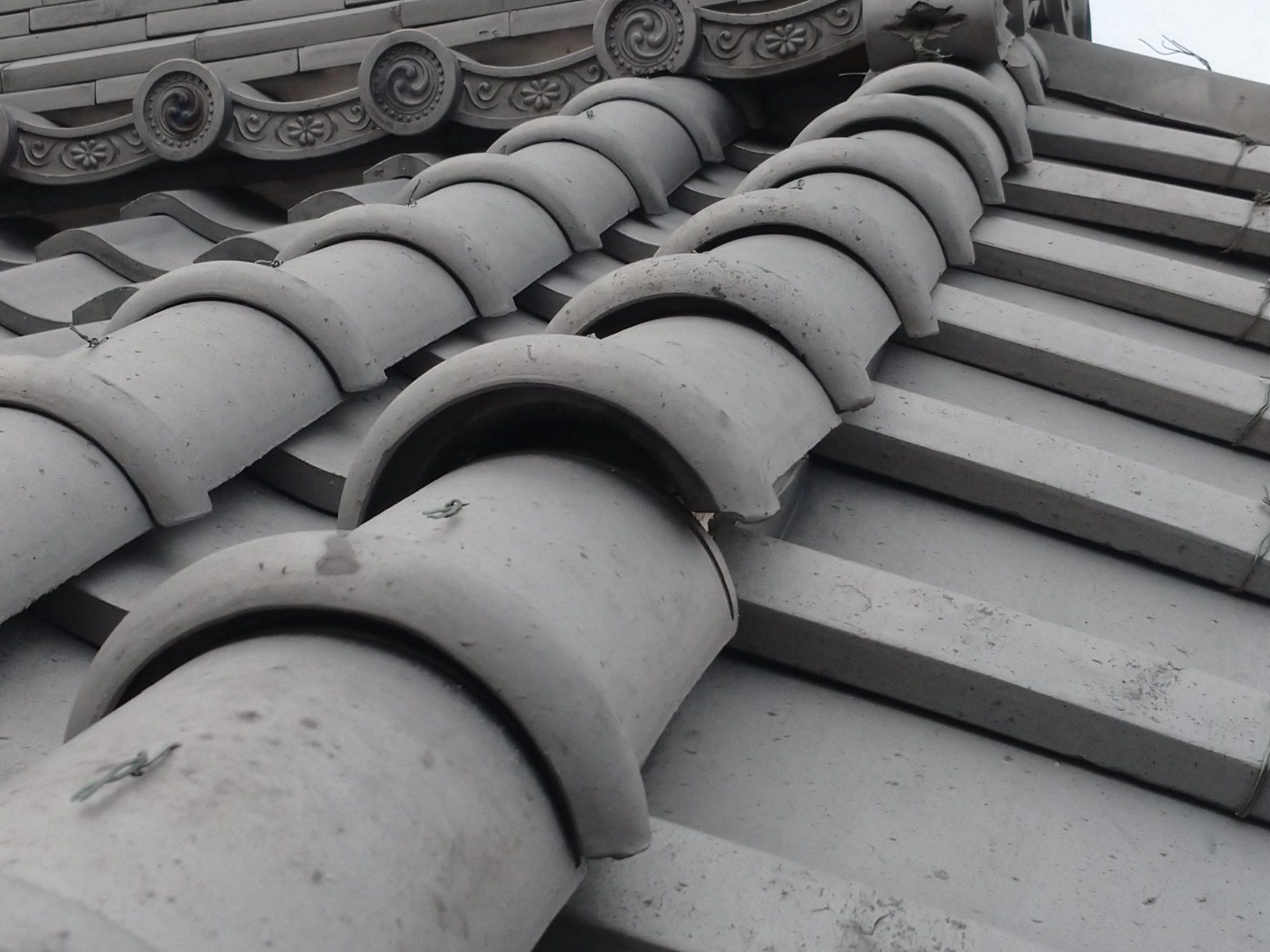 養老町で、屋根の点検をしています。