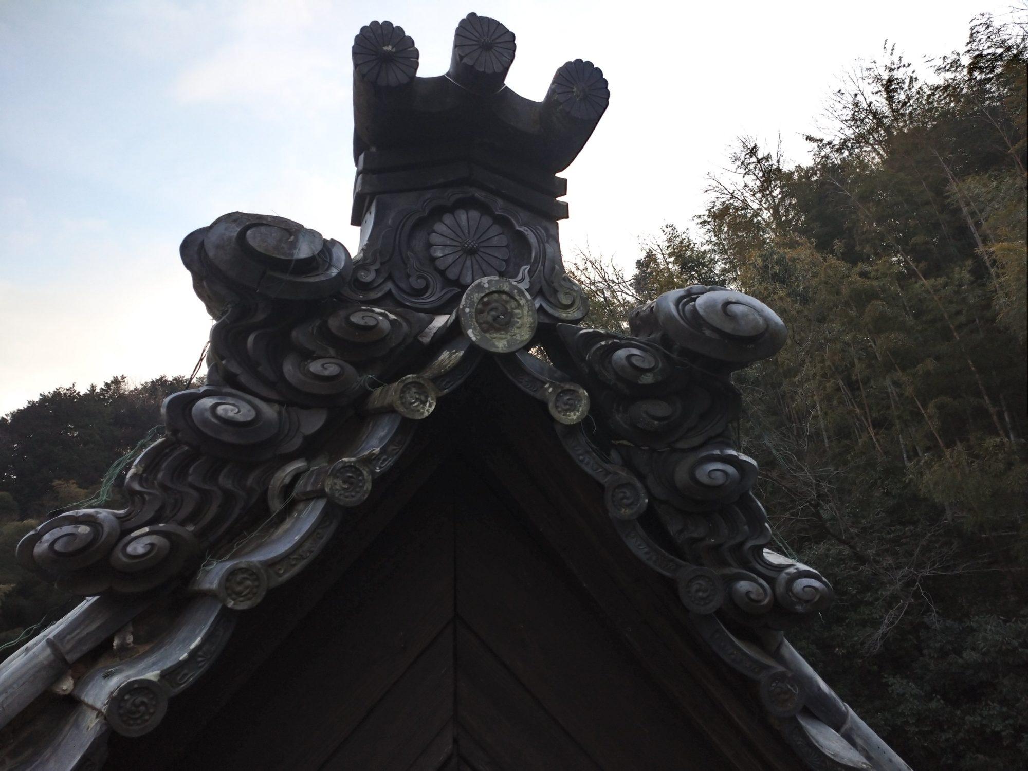岐阜市のお寺で、現場調査をしています。